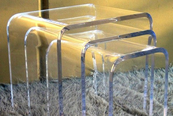 Acrylic Waterfall Nesting Tables   Modern Acrylic Furniture By.