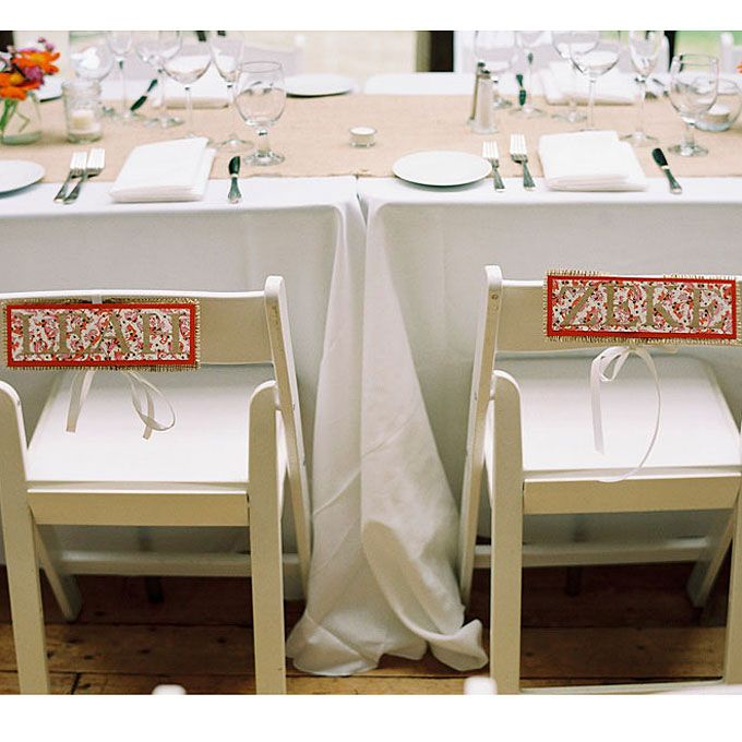 Nice Brides: Rustic DIY Wedding Chair Signs. In Order To Distinguish Themselves  From The Table