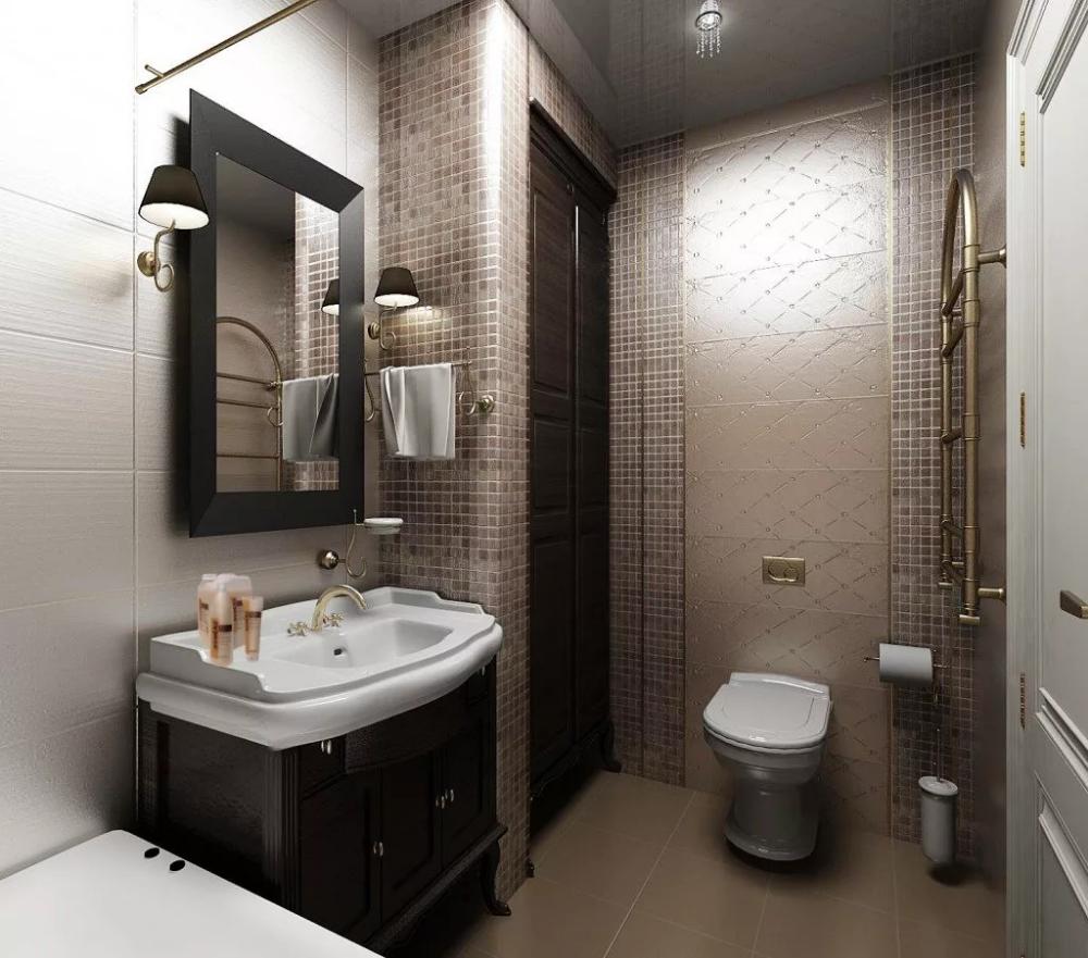 маленький совмещённый санузел с ванной дизайн: 6 тыс ...