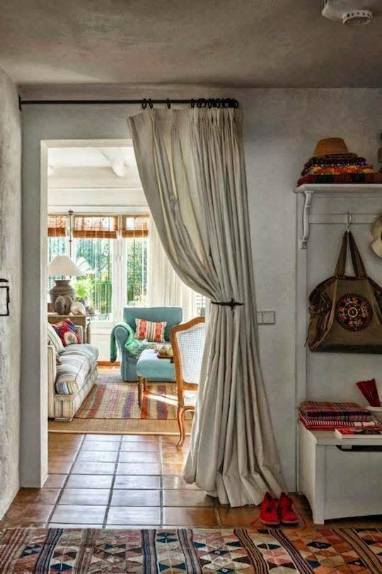 wohnzimmer und schlafzimmer vorhang raumteiler innere. Black Bedroom Furniture Sets. Home Design Ideas