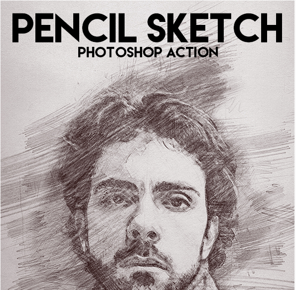 Pencil sketch photoshop action download here https graphicriver net item