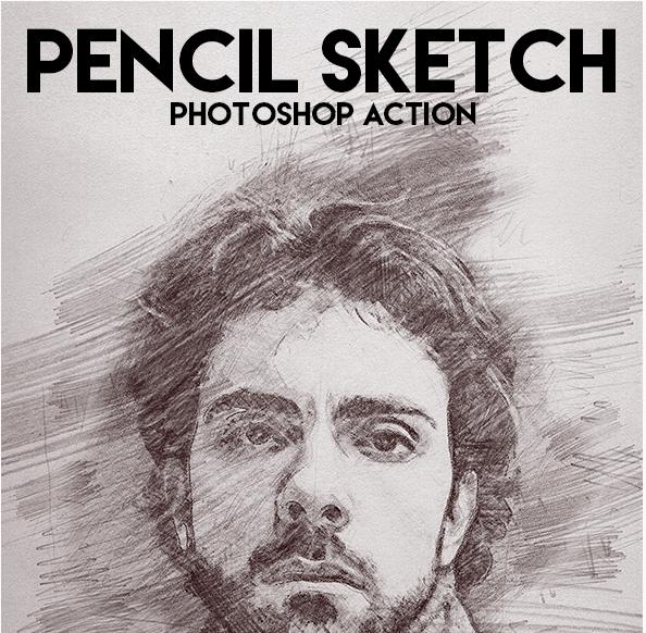 Download GraphicRiver - Smooth Pencil Sketch Photoshop