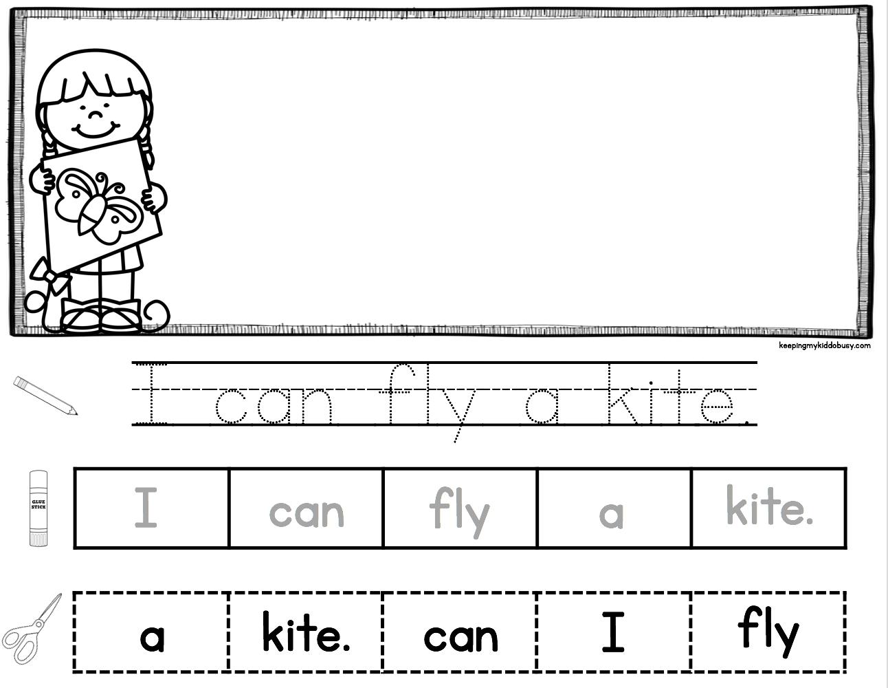Reading Writing Rock Stars April Freebies Keeping My Kiddo Busy Kindergarten Writing Activities Sentence Activities Spring Writing Activity [ 1000 x 1292 Pixel ]