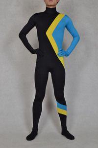 Black Blue Spandex Bodysuit Catsuit Zentai Costume  e33bc579a