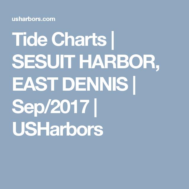 Tide Charts Sesuit Harbor East Dennis Sep2017 Usharbors