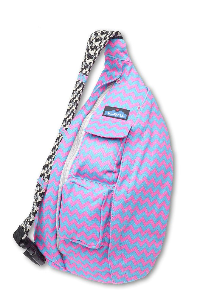 Only Two Left Limited Edition Kavu Rope Bag Neon Chevron
