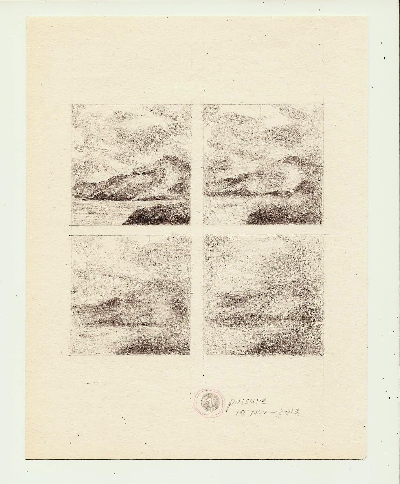 paisaje juan carlos osorno grafito sobre papel 2013