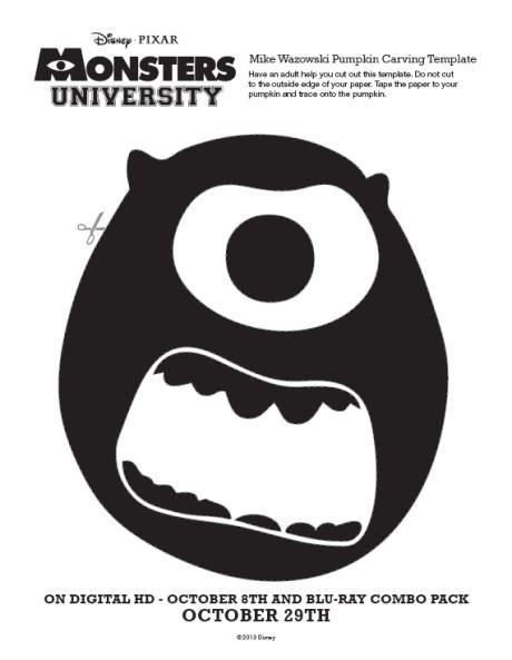 pumpkin carving template monsters inc  Monsters university - pumpkin carving template in 5 ...