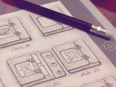 Photoalbum iPad sketch | Zeichnen, Malen und Designs