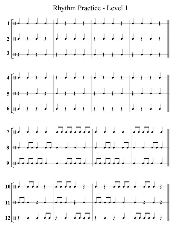 {Rhythm Practice and Counting Worksheet – Rhythm Worksheets
