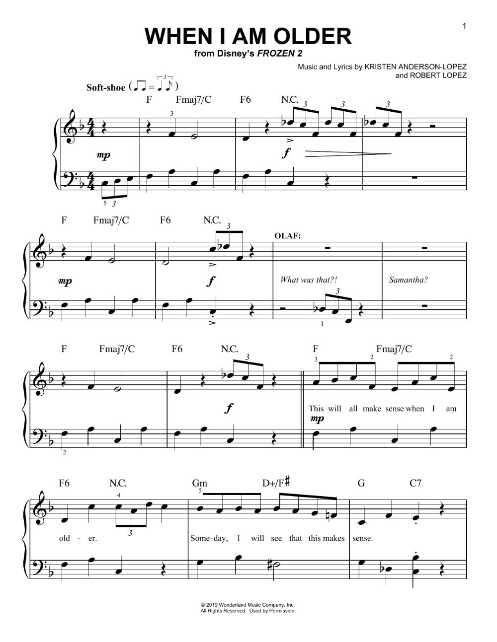 Josh Gad When I Am Older From Disney S Frozen 2 Sheet Music Notes Chords Score Download Printable Pdf Disney Sheet Music Sheet Music Notes Old Sheet Music