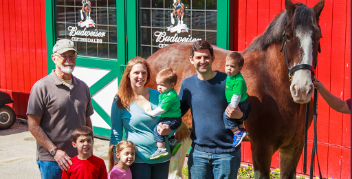 Compliments of Anheuser-Busch, Inc , this Busch family
