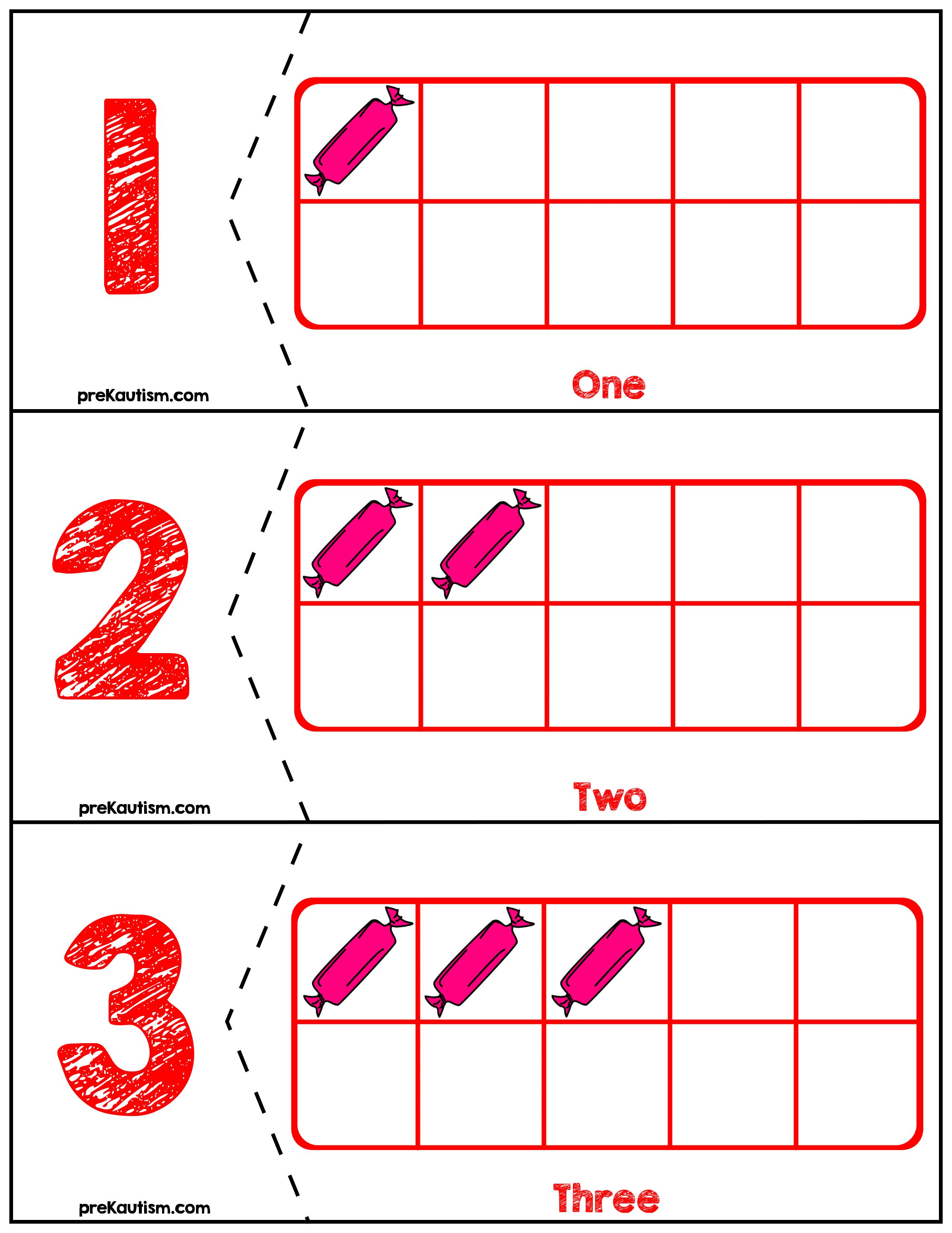 Free Valentine S Day Ten Frames Number Match