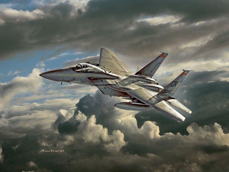 F-15 por Peter van Stigt. Más en el www.grancapitan.org/foro