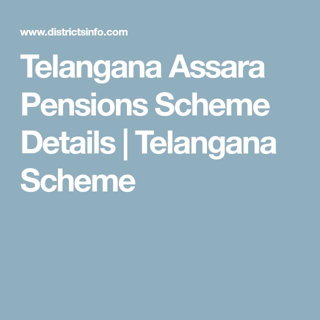 Telangana Assara Pensions Scheme Details | Telangana Scheme