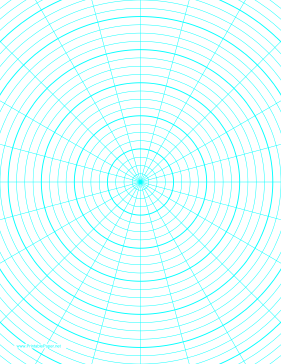 Free Printable Paper  Example Of OnePolar Graph Paper With