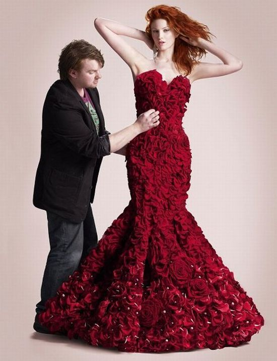 Dress Made Of Roses