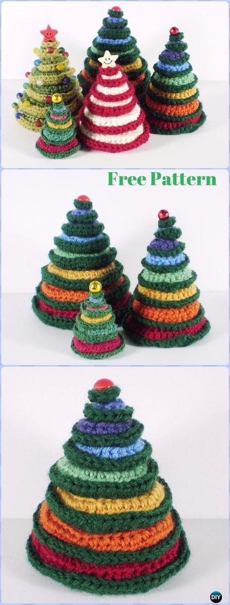 Crochet Christmas Tree Free Patterns Holiday Decoration Crochet