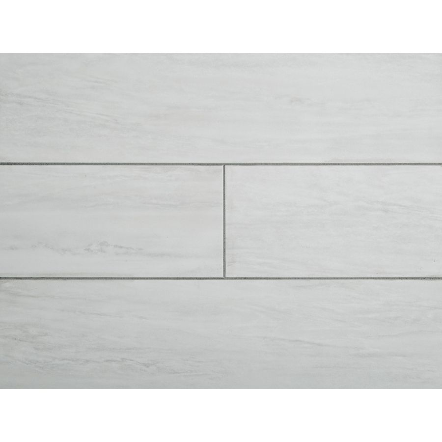 STAINMASTER 1-Piece 6-in x 24-in Groutable White Waza Peel-And-Stick ...