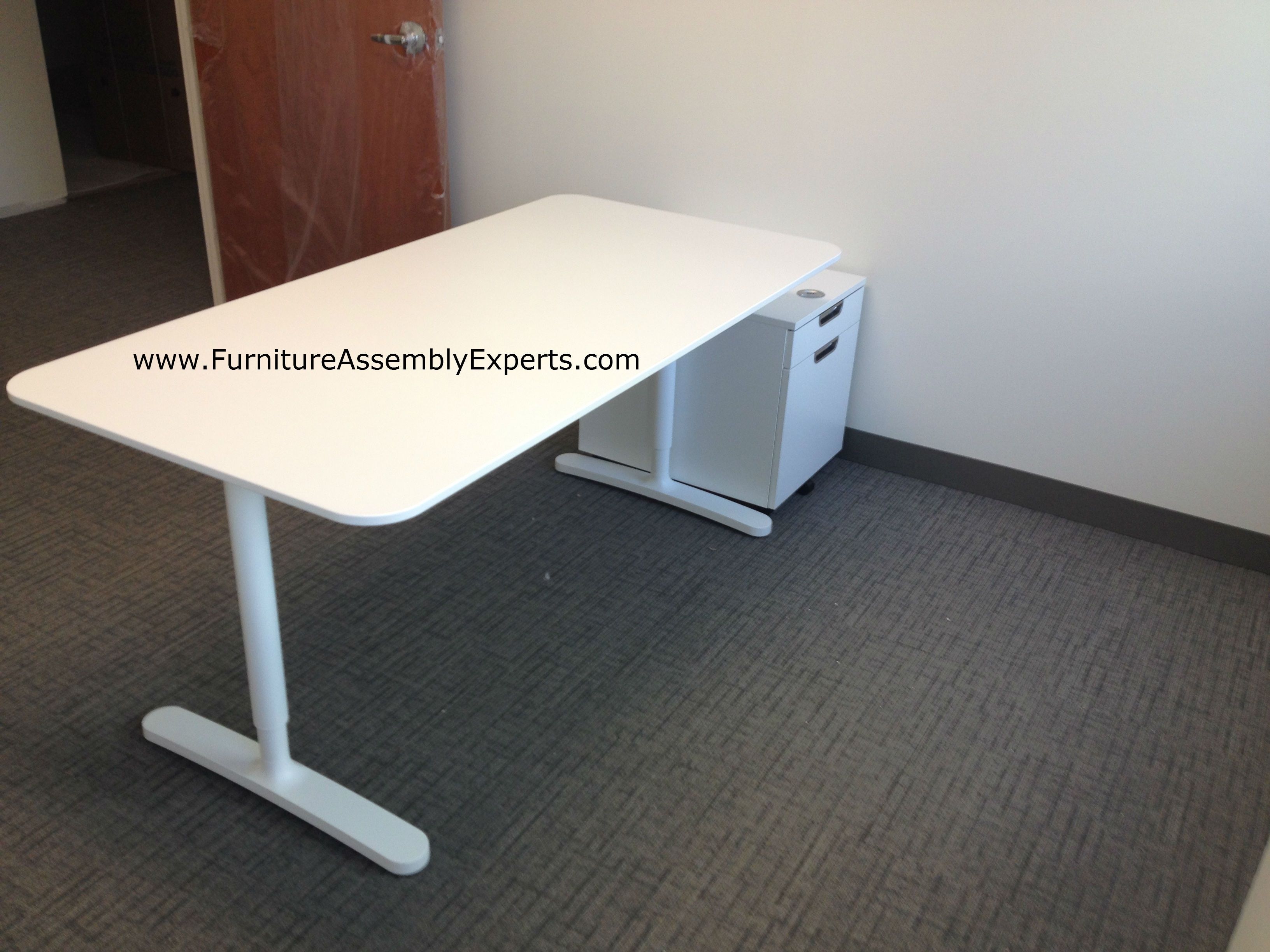 High Quality Ikea Bekant Office Desk And Galant File Cabinets Assembled In Bethesda MD  By Furniture Assembly Experts LLC Pictures