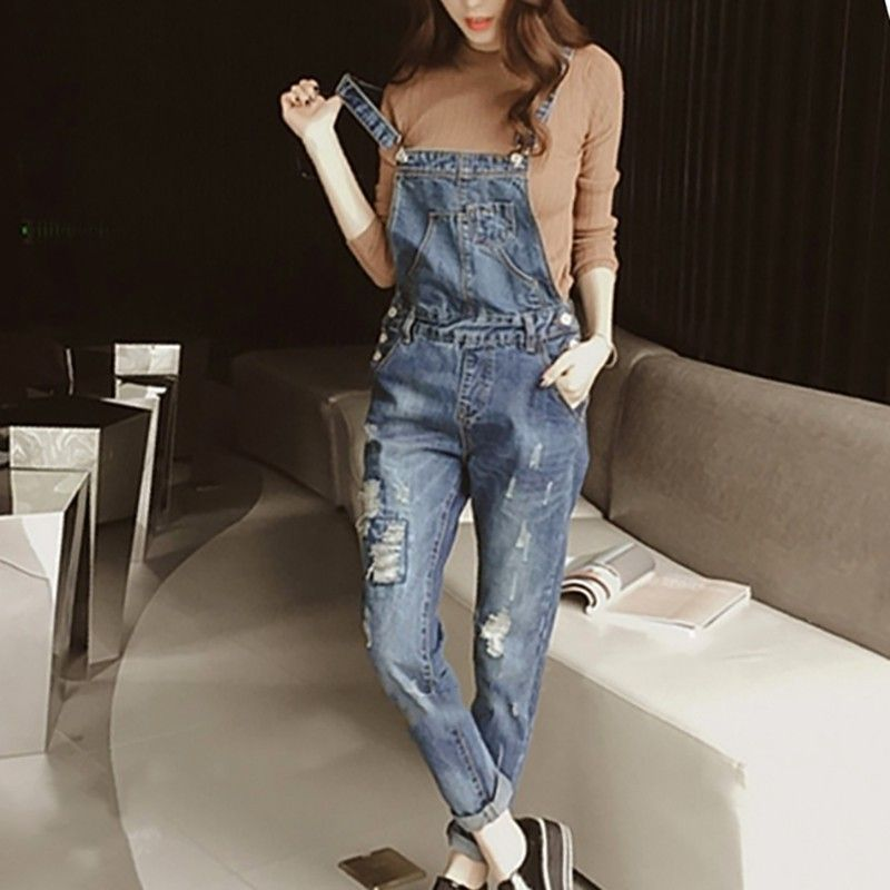 65e2c1da9427 Fashion Denim Overalls Women Jeans Jumpsuit Rompers Ladies Vintage Denim  Jean Overalls Pant