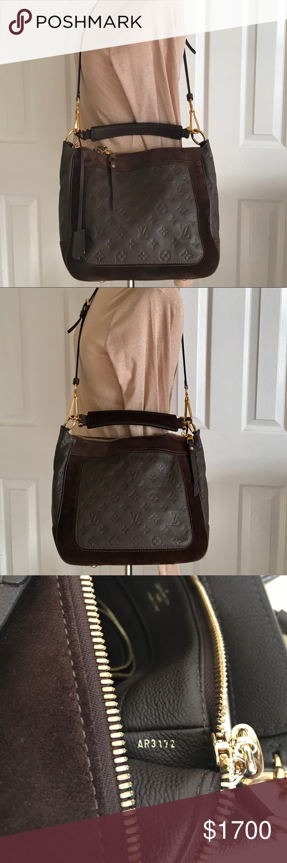 81f15b26c385 LV Audacieuse Monogram Empreinte Leather PM Bag A newer creation from the  house of Louis Vuitton