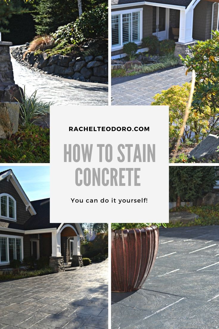 DIY ideas How To Stain Stamped