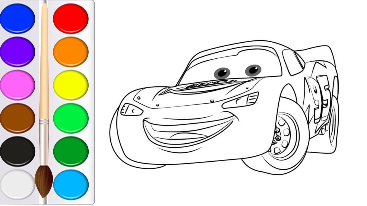 Como Dibujar Lightning Mcqueen Cars 3  Learn Colors  Videos Para