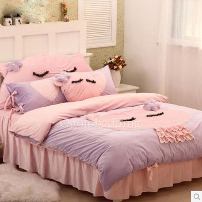Awesome Artsy Twin Lavender Kids Bedding Sets For Girls
