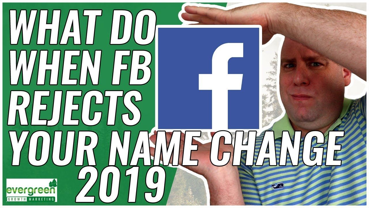 Change Facebook Business Name If Rejected Solution Why Can T I Change My Facebook Page Name Facebook Business Business Names Social Media Marketing