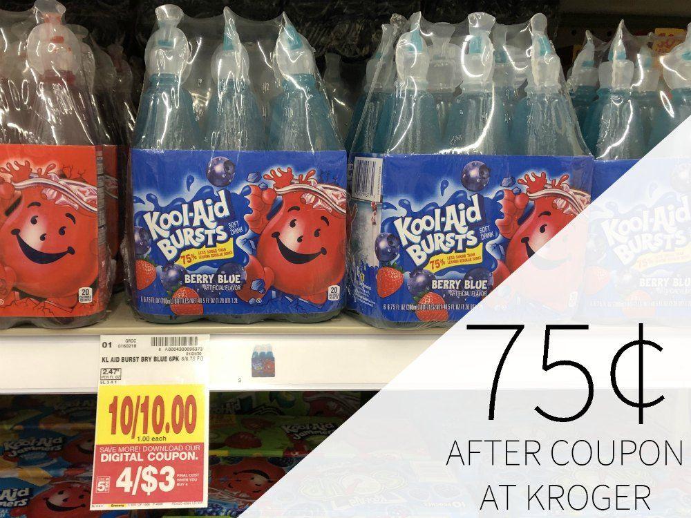 Kool Aid Bursts Just 75 Per Package At Kroger Kool Aid Kroger Kroger Couponing