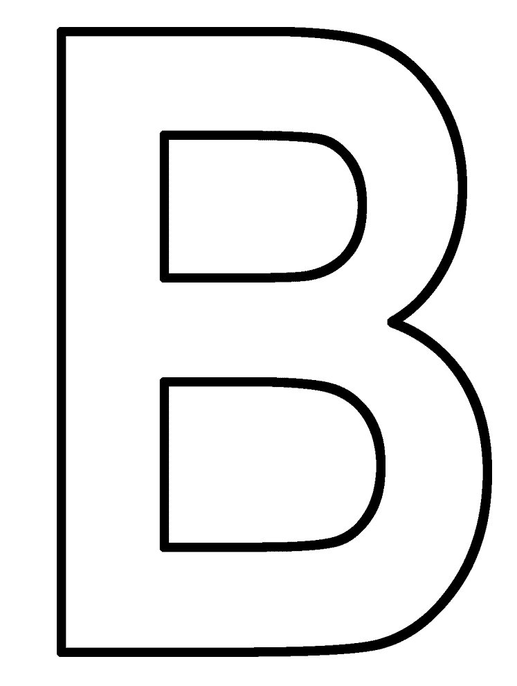 Letter B Coloring Pages - Preschool and Kindergarten | Letter B ...
