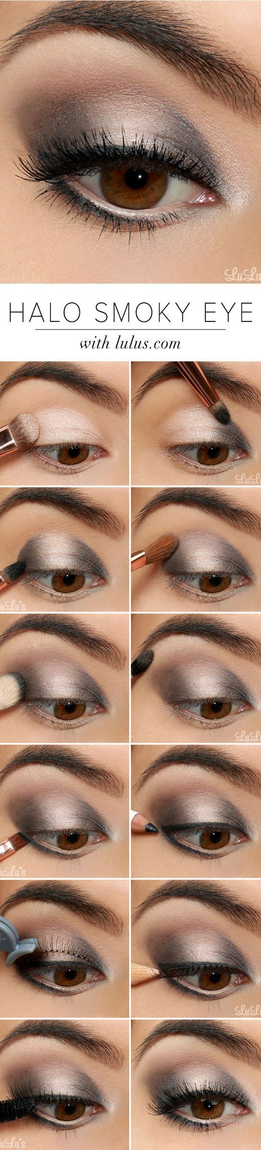 16 easy step by step eyeshadow tutorials for beginners belleza rh pinterest com