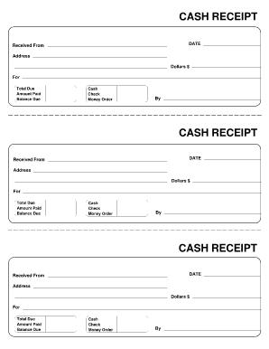 Free Cash Receipt Forms Fillable Receipt Template Free