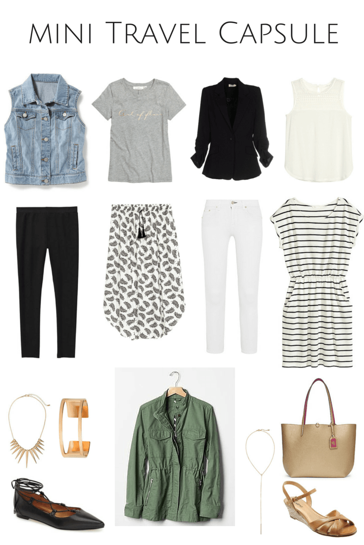 What To Pack For A Weekend Away. Summer Travel Capsule