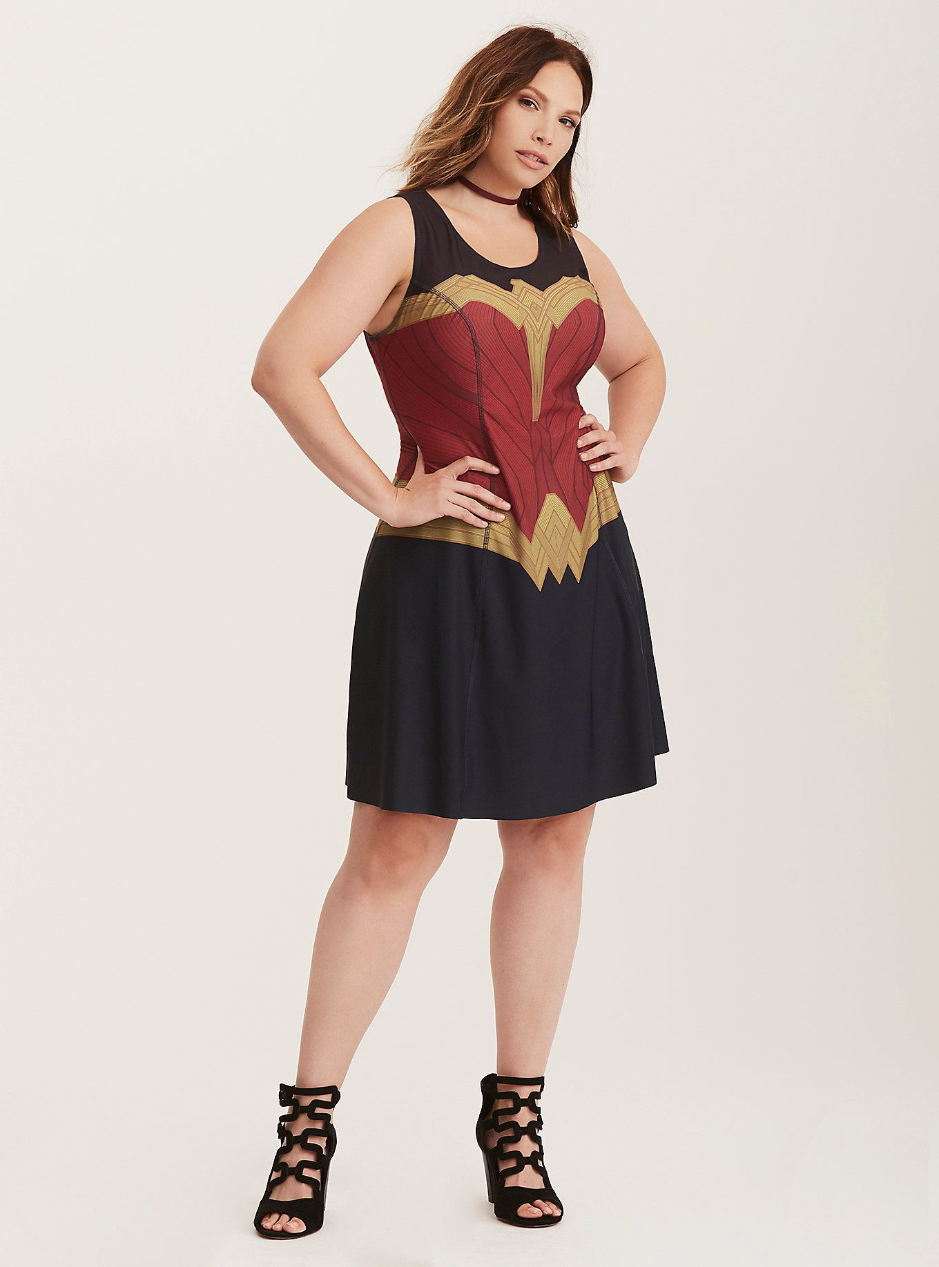 Her Universe Wonder Woman Reversible Skater Dress Torrid