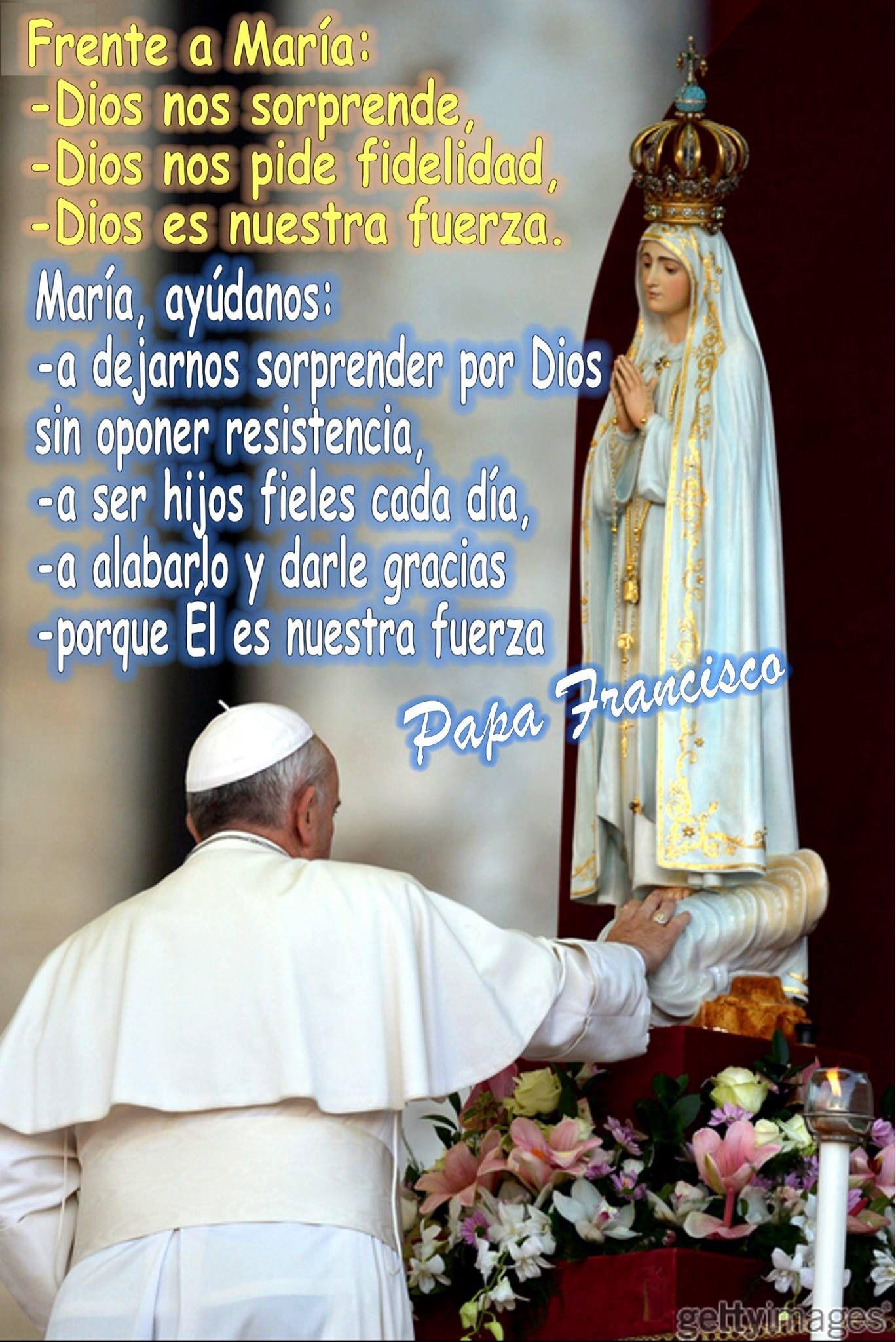 Consagracion del Papa Francisco al Corazon Inmaculado de Maria