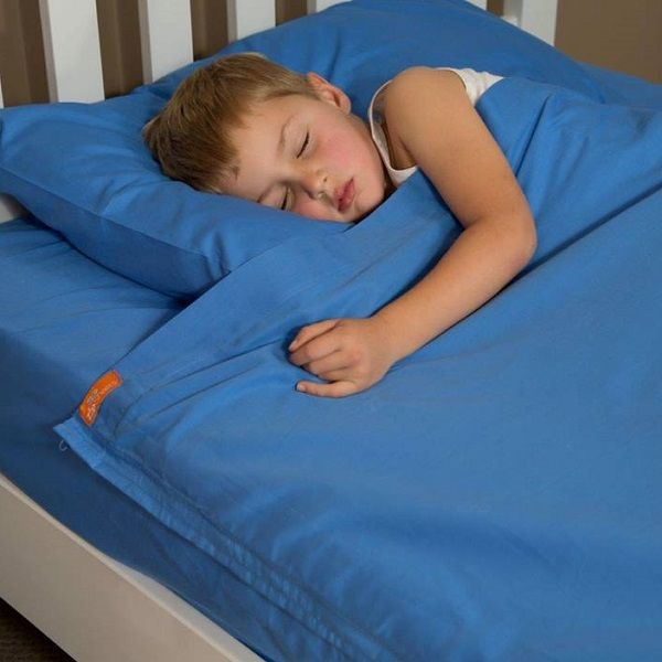 Bright Blue Kids Zip Sheets Kids Cotton Sheets With