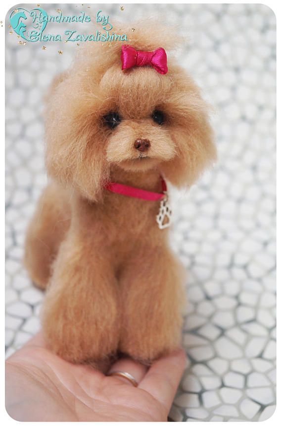 Poodle Red Poodle Asian Grooming Miniature Dog 1 6 Scale Dog