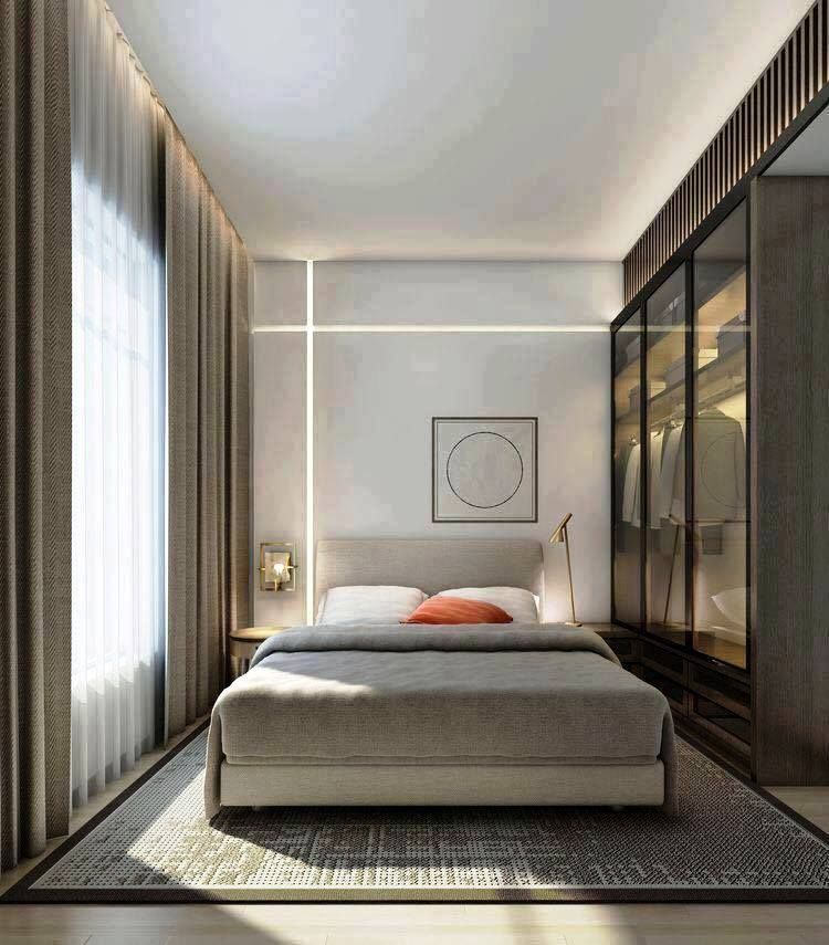 40 Gorgeous Small Master Bedroom Ideas In 2020 Decor Inspirations Apartment Bedroom Decor Small Master Bedroom Modern Bedroom Design