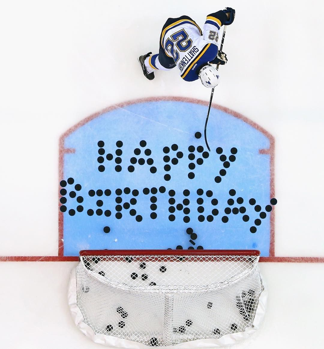 St Louis Blues On Instagram Today 22 Turns 27 Happy Birthday Shattdeuces Hockey Birthday Happy Birthday Meme Emoji Birthday