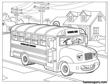 Free Printable Coloring Pages School Bus