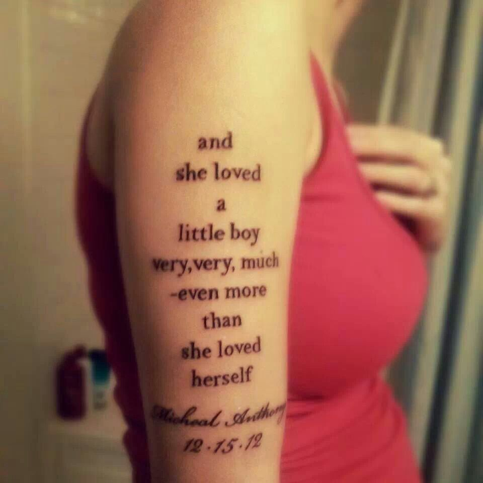 Mother To Son Tattoo From