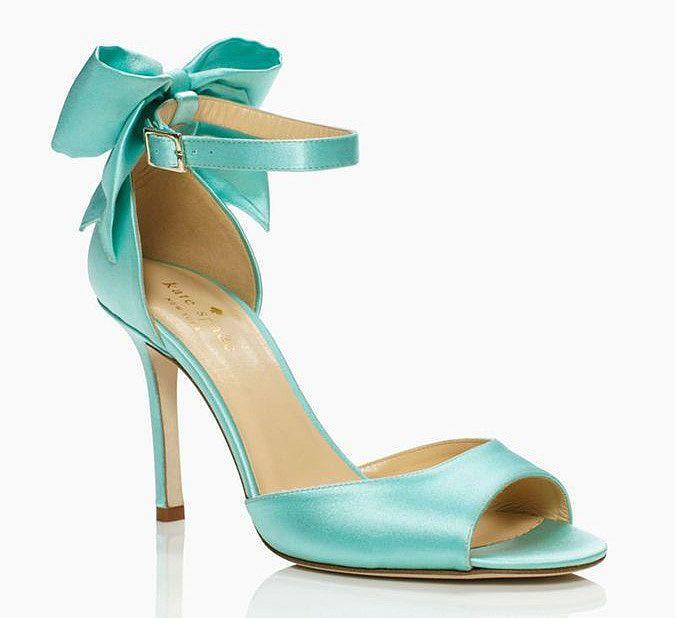 Kate Spade Blue Izzie Bow Ankle-Strap Heels | Tiffany blue heels ...