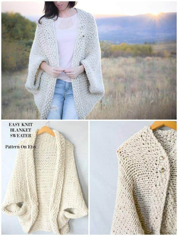 Photo of Knit Blanket Sweater Pattern: 20 Easy Crochet Sweater Patterns For Beginners – C…