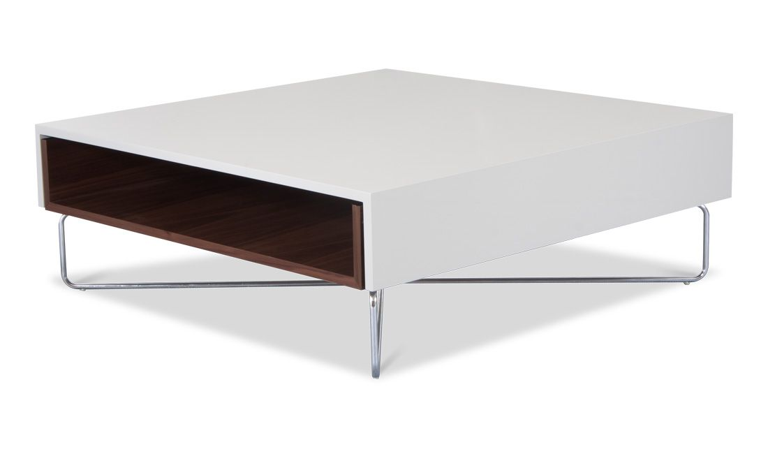 Slider Coffee Table Walnut White £429.00