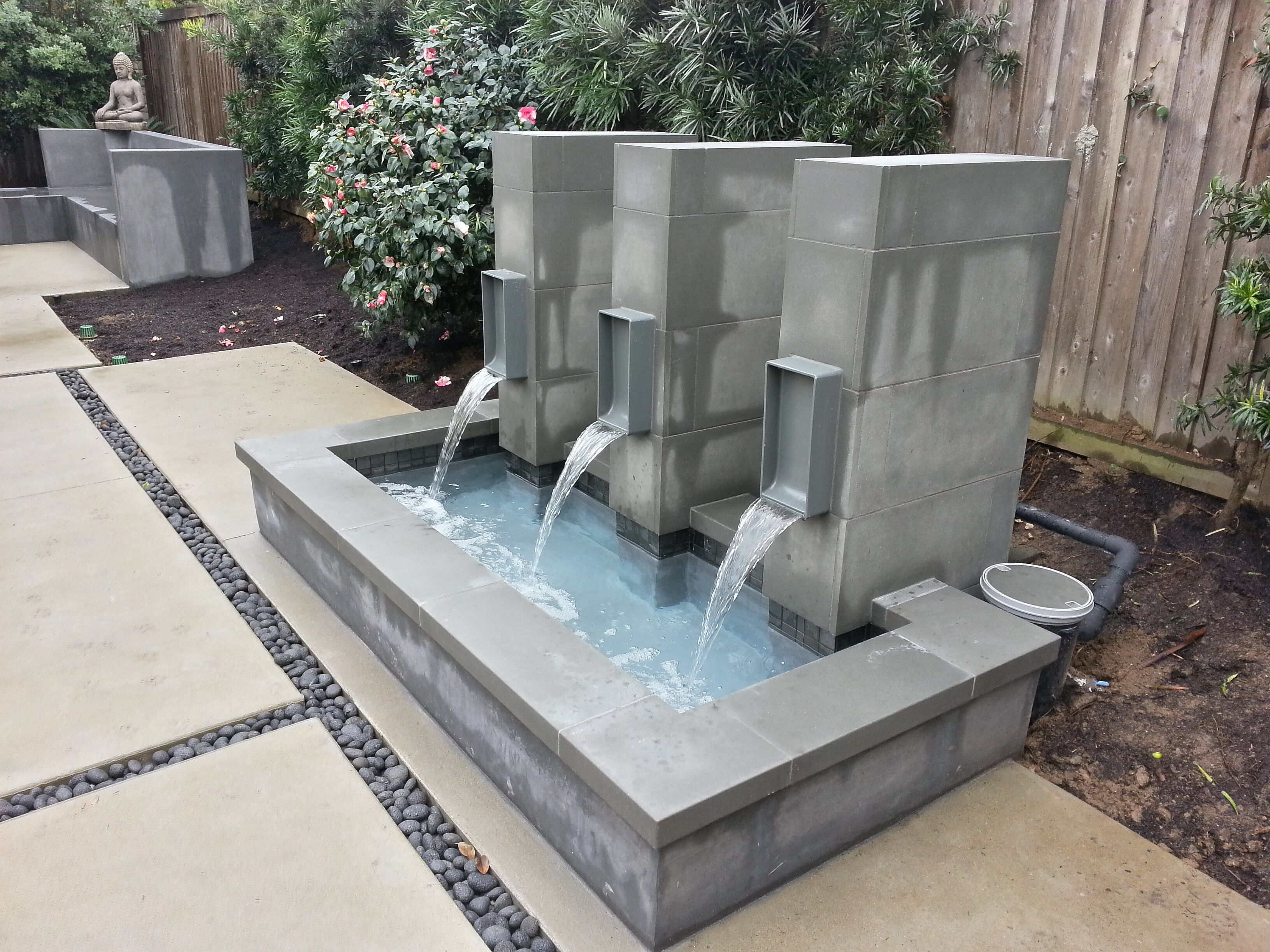 Pin On Modern Water Feature Modern outdoor water fountain