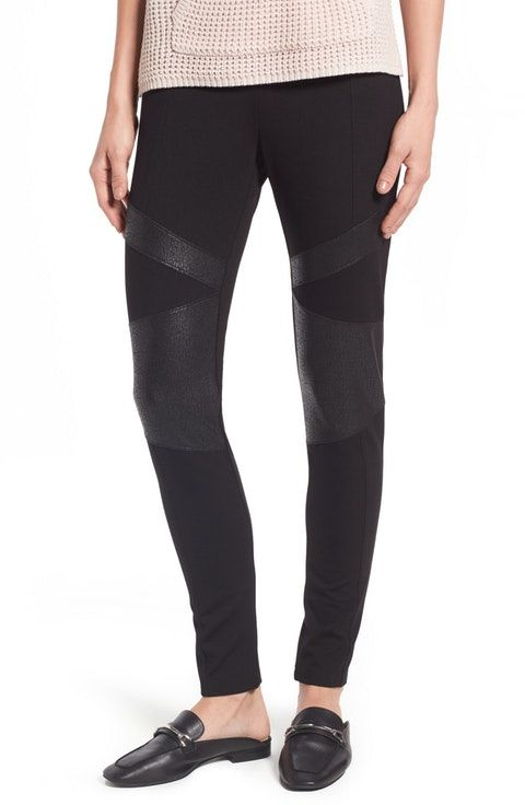 91a0cf46266175 Two by Vince Camuto Lacquer Inset Moto Leggings (Regular & Petite ...