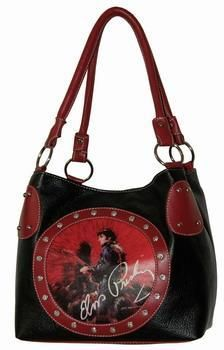 ELVIS PRESLEY BAG AND MATCHING WALLET - FREE SHIPPING $55.00