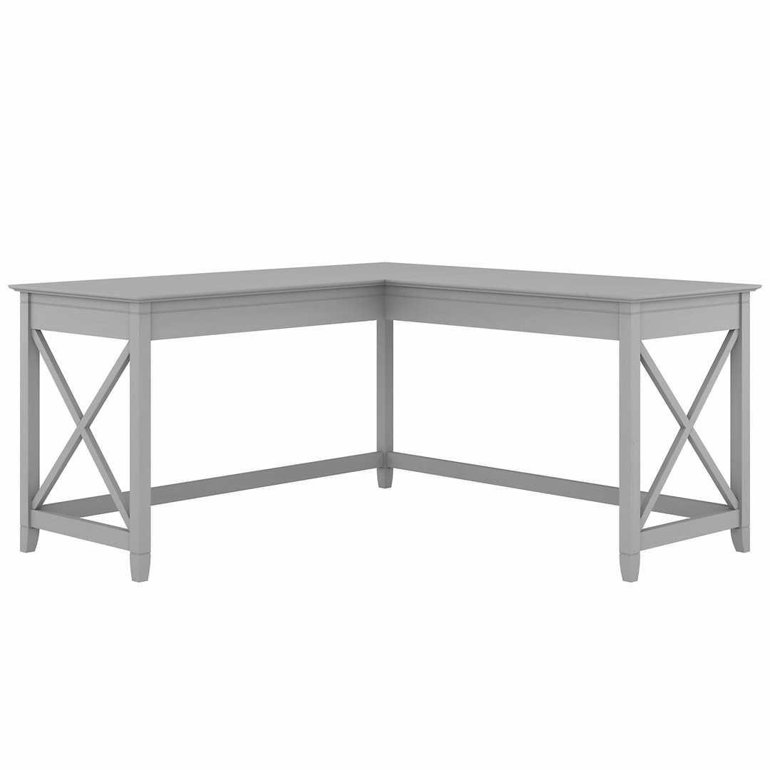 60W L Shaped Desk – Cape Cod Gray / Unique / Various